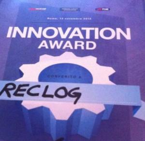Innovation Award Telecom Italia TIM Reclog