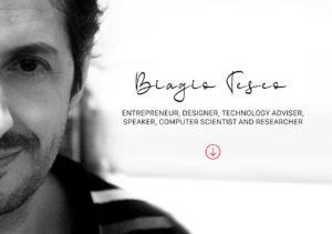 Cover Biagio Teseo. Volto con descrizione