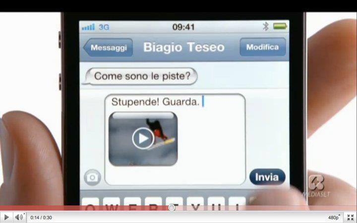 iPhone 4 spot TV Italia Biagio Teseo